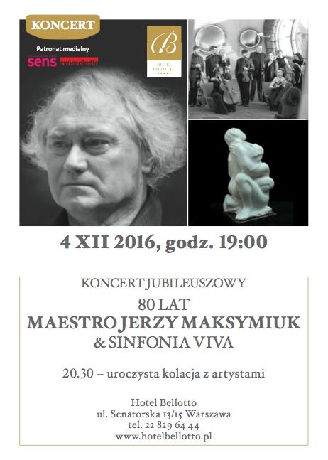 Maestro Jerzy Maksymiuk jubilee concert